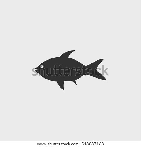 fish icon,vector design