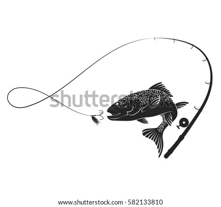 Simple fishing rod drawing