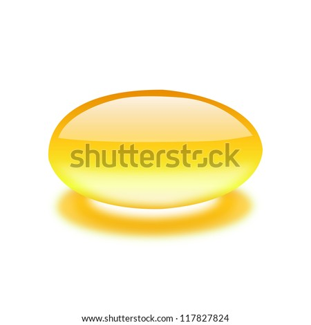 Fish oil isolated on white - stock vector