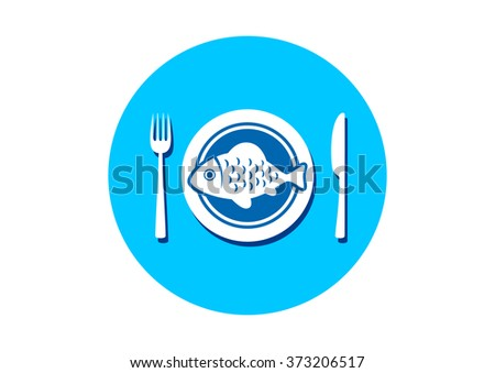 Fish on porcelain plate
