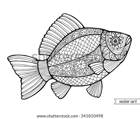 Coloring Book Pages Of Fish : Coloring page stock images royalty free & vectors