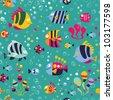 fish pattern - stock vector