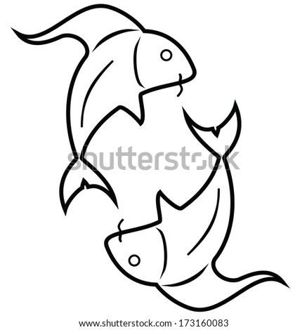 Fish pisces yinyang style fishes zodiac stock vector 173160083 fish pisces yin yang style fishes the zodiac symbol of pisces sciox Gallery