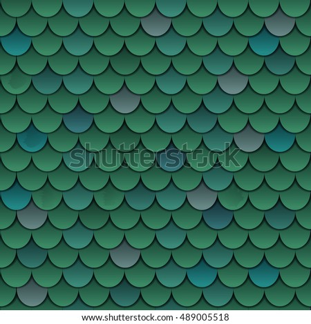 Fish scale seamless pattern background vector illustration
