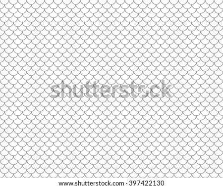 fish scales seamless horizontal background .Vector illustration. EPS 10. - stock vector