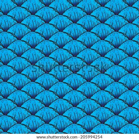 Fish scales texture. Dragon scale tile. Editable. - stock vector