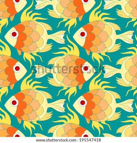 Colorful aquarium fishes stock illustration 446433655 for Seamless fish tank