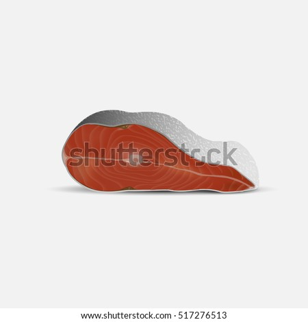 Fish steak  isolated on white background. Vector illustration