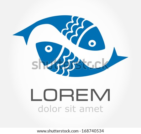 Fish symbol. Vector illustration. - stock vector