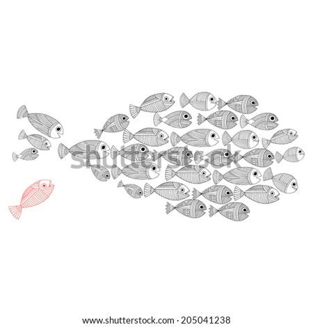 Fish template - stock vector