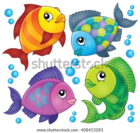 Fish topic image 2 - eps10 vector illustration.