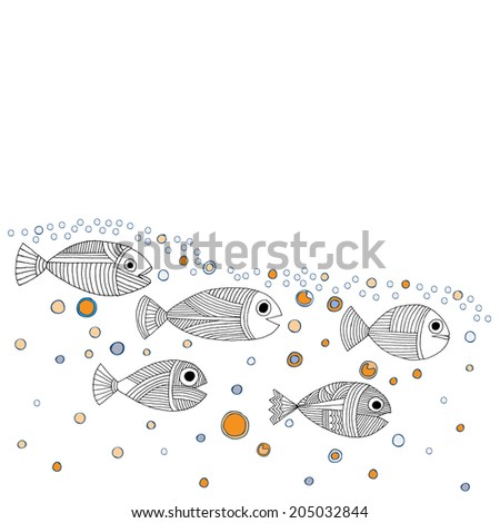 Fish variant - stock vector