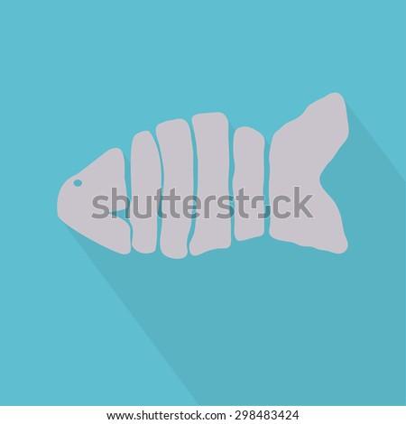 Fish vector icon. EPS 10 - stock vector