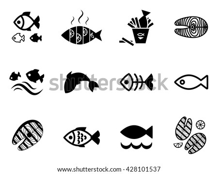 Fish vector seamless pattern or background