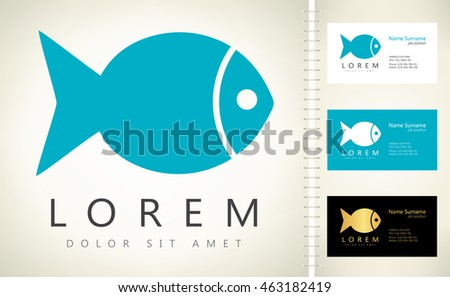 Fish vector business card template stock photo photo vector fish vector with business card template colourmoves