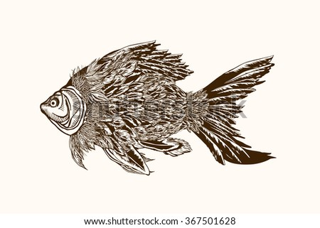 Fish with feathers.