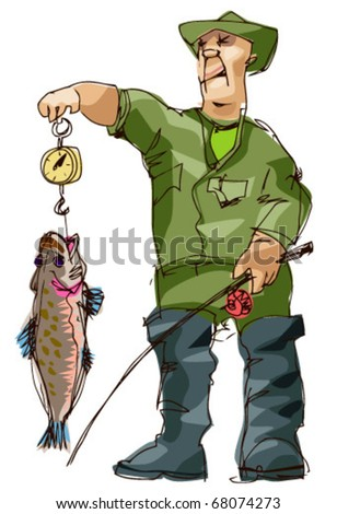 fisher - stock vector