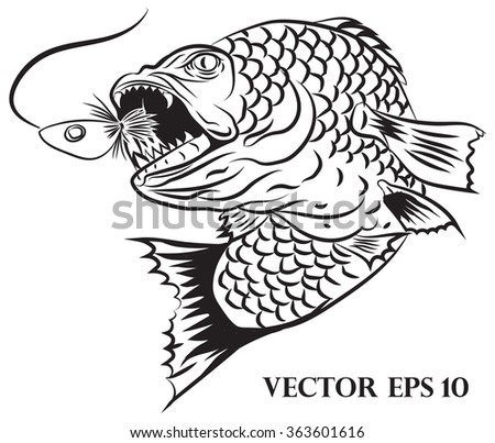 Fisherman Logo Design Stock Vector 363601616