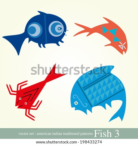 Fishes - fish set of vector icons