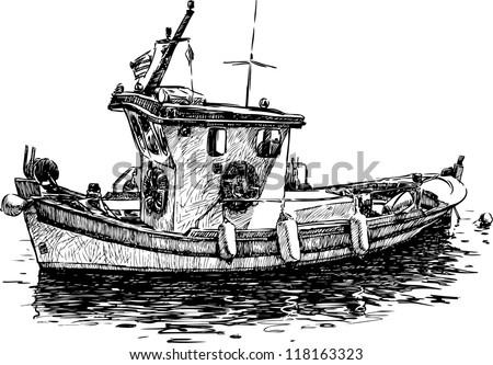 Fishing boat stock images royalty free images vectors for Fishing jobs near me