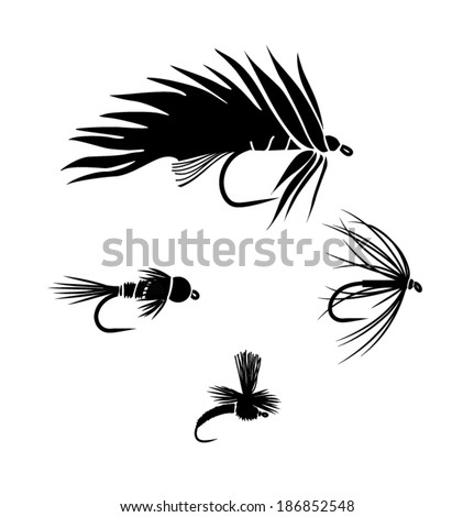 Fly fishing fly silhouette - photo#13