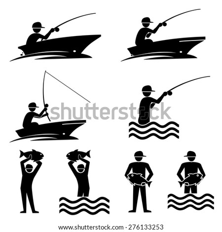 Fishing icons.vector