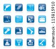 Fishing industry icons - vector icon set - stock vector