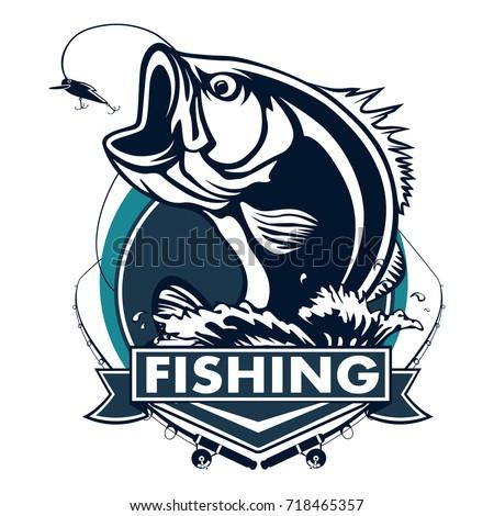 Largemouth bass fish stock images royalty free images for Bass fishing logos