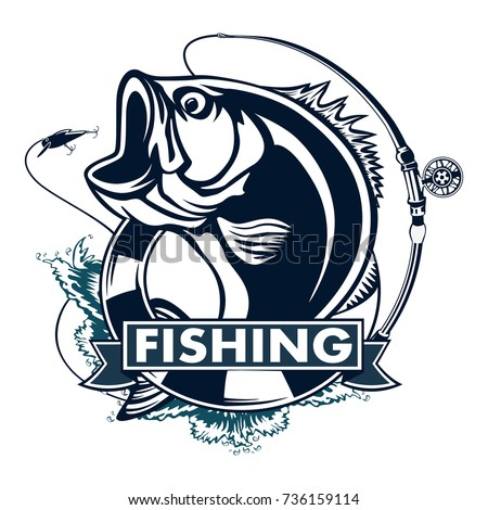 Bass fishing logo