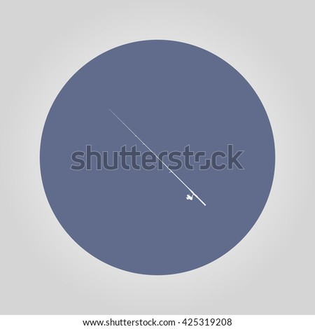 fishing rod icon. Vector concept illustration for design. - stock vector