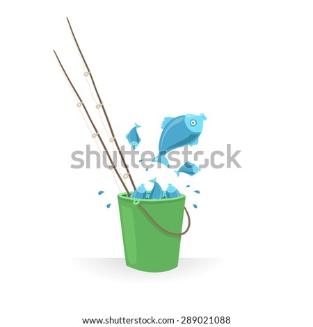 Fish bucket stock images royalty free images vectors for Bucket of fish