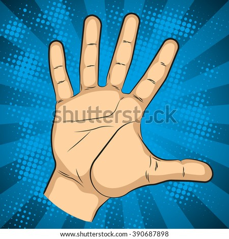 Fist hitting, fist punching in pop art style. Human violence, knuckle and impact, vector illustration - stock vector