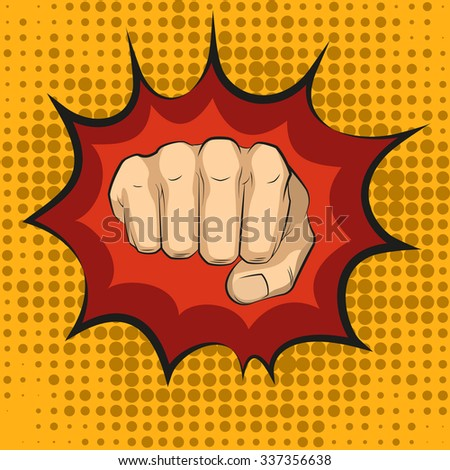 Fist hitting fist punching pop art style Human violence knuckle impact vector impact illustration pow punch boxing impact pow punch impact pow punch impact pow punch impact pow punch impact pow punch  - stock vector