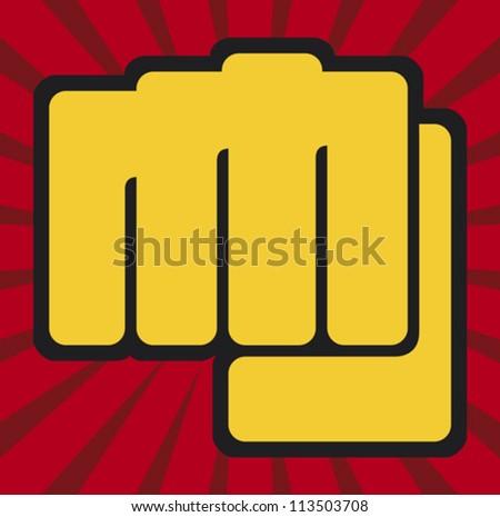 fist (human hand punching) - stock vector