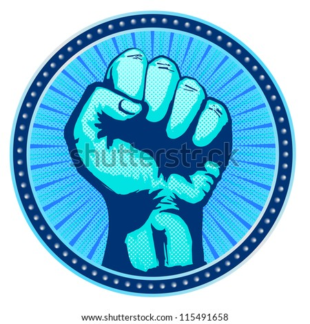 Fist Icon - stock vector