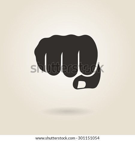 fist icon on a light background - stock vector