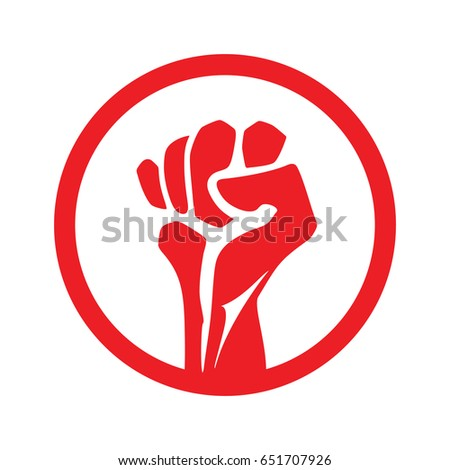 Fist Icon Vector Clenched Male Fist Stock Vector Hd Royalty Free