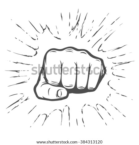 Fist illustration - stock vector