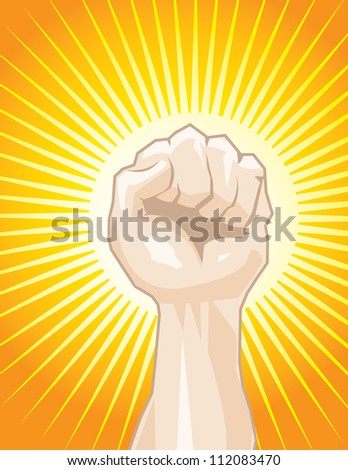 Fist in the Air - stock vector