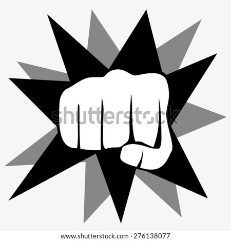 Fist isolated on white background, vector illustration
