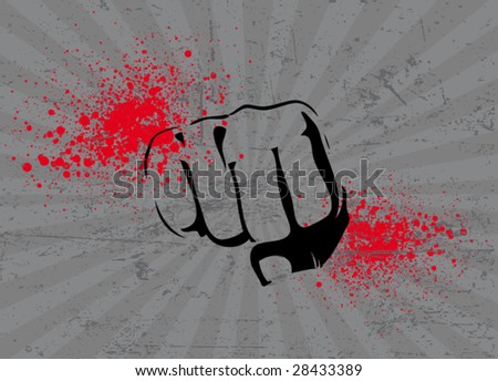 fist poster 1 - stock vector