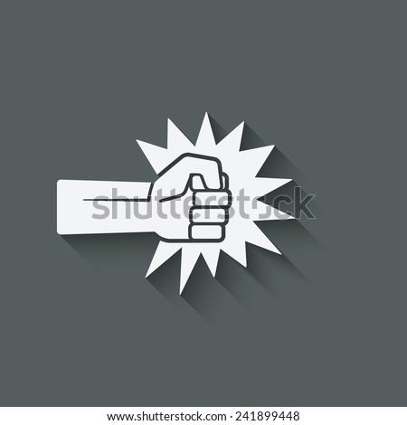 fist punch symbol - vector illustration. eps 10 - stock vector