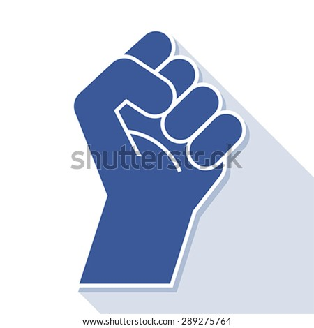 fist revolution symbol, vector  - stock vector