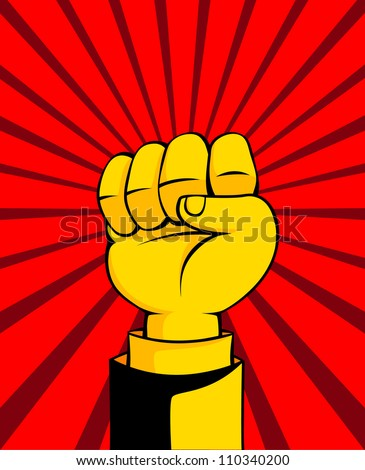 Fist vector illustration - stock vector
