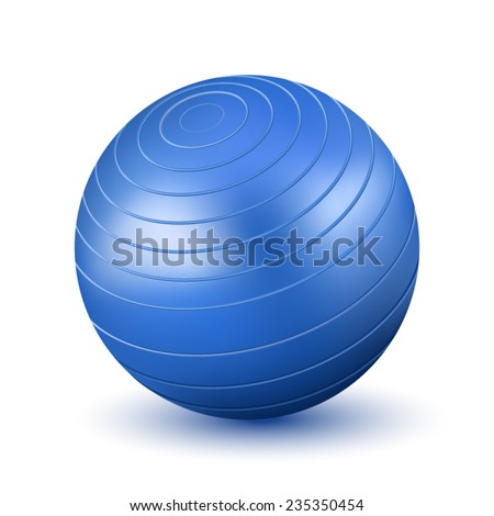 Fitball - stock vector