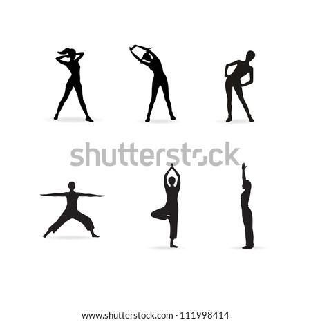 fitness - stock vector