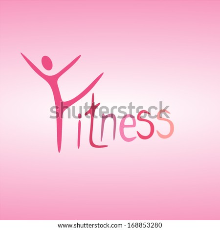 fitness - stock vector