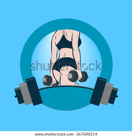 Fitness and sport motivation vector illustration - stock vector