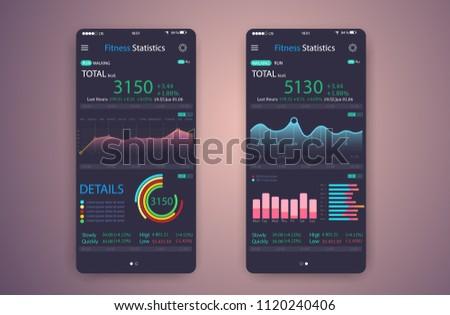 fitness app ui ux design web stock vector 1120240406 shutterstock