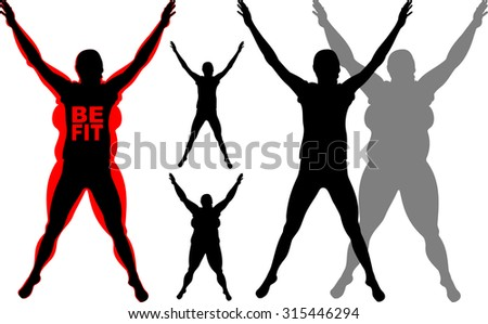 fitness - be fit - stock vector